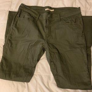 Green Levi's pants